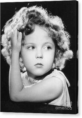 Shirley Temple Canvas Print by MMG Archive Prints
