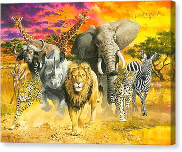 Africa's Finest Canvas Print by John Francis