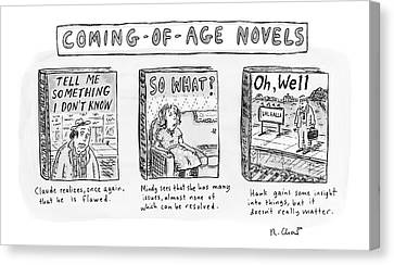 Aging Canvas Print - New Yorker June 11th, 2007 by Roz Chast