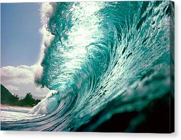 Waves Splashing In The Sea Canvas Print by Panoramic Images