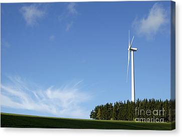 Ally Canvas Print - Wind Turbine by Bernard Jaubert