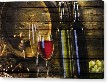 Wine Canvas Print by Joe Hamilton