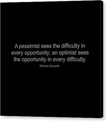 Winston Churchill Quote Canvas Print