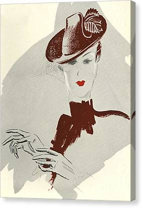 Women�s Fashion 1930s 1939 1930s Uk Canvas Print by The Advertising Archives