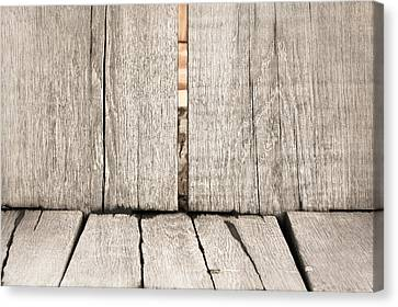 Wood Background Canvas Print by Tom Gowanlock