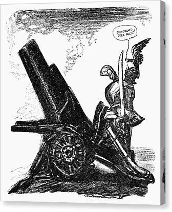 World War I Cartoon, 1915 Canvas Print