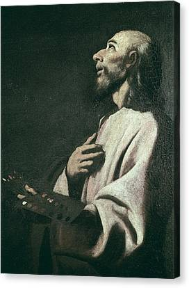 Saint Luke The Evangelist Canvas Print - Zurbaran, Francisco De 1598-1664. Saint by Everett