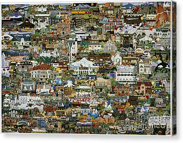 100 Painting Collage Canvas Print