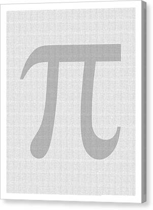 100 Thousand Pieces Of Pi Canvas Print by Ron Hedges