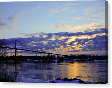 1000 Island Bridge Sunrise Canvas Print by David Simons