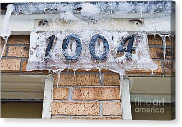 1004 Main Street Small Town Usa - Color Canvas Print by Andee Design