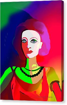 1012 - Lady Colourful  Touch Canvas Print