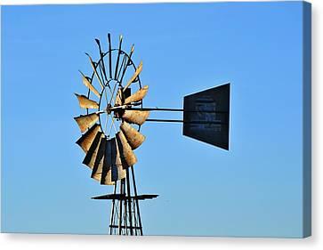 Windmill Water Pump Canvas Print by Werner Lehmann