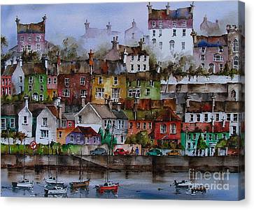 107 Windows Of Kinsale Co Cork Canvas Print