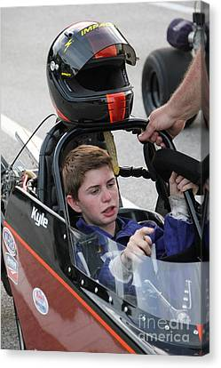 Jr Motorsports Canvas Print - Jr Dragsters 5-10-14 by Jack Norton