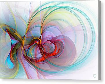 Generative Art Canvas Print - 1086 by Lar Matre