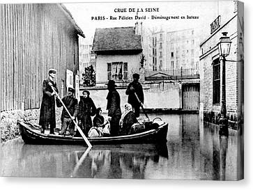 10th Century Flooded Paris Street Canvas Print by Collection Abecasis