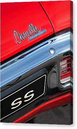 1970 Chevrolet Chevelle Ss Taillight Emblem Canvas Print by Jill Reger