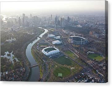 Aerial Views Of Australia Canvas Print by Brett Price