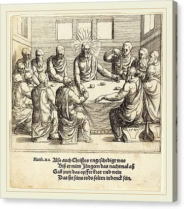 Last Supper Canvas Print - Augustin Hirschvogel German, 1503-1553 by Litz Collection