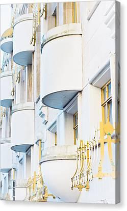 Balconies Canvas Print by Tom Gowanlock