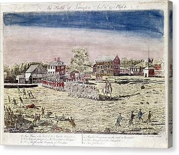 Carousel Collection Canvas Print - Battle Of Lexington, 1775 by Granger