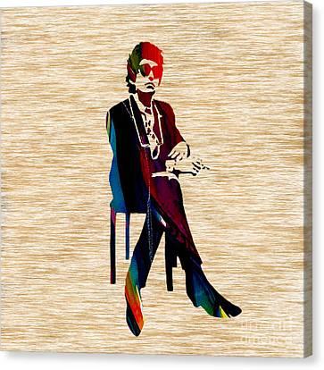 Concert Canvas Print - Bob Dylan by Marvin Blaine