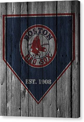Baseball Canvas Print - Boston Red Sox by Joe Hamilton