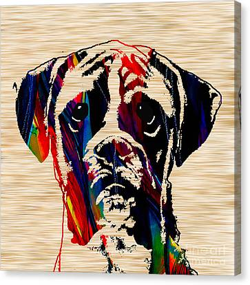 Boxer Dog Canvas Print - Boxer by Marvin Blaine
