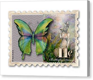 11 Cent Butterfly Stamp Canvas Print by Amy Kirkpatrick