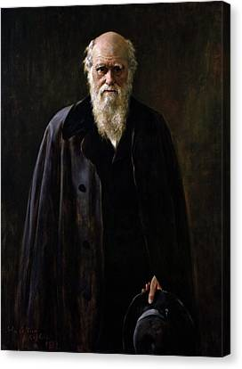 Collier Canvas Print - Charles Darwin (1809-1882) by Granger