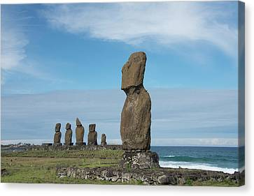 Chile, Easter Island Aka Rapa Nui Canvas Print by Cindy Miller Hopkins