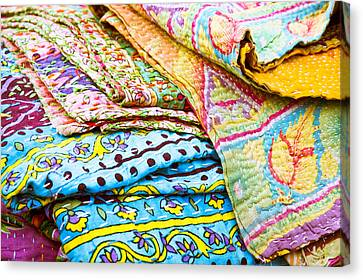 Laundry Mat Canvas Print - Colorful Cloth by Tom Gowanlock