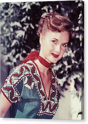 Debbie Reynolds Canvas Print by Silver Screen
