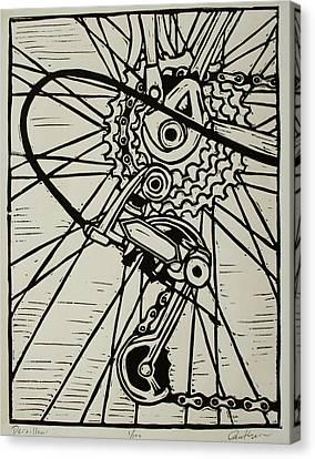 Derailluer Canvas Print by William Cauthern