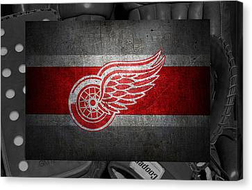 Detroit Red Wings Canvas Print by Joe Hamilton