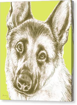 Dog Stylised Pop Modern Art Drawing Sketch Portrait Canvas Print by Kim Wang