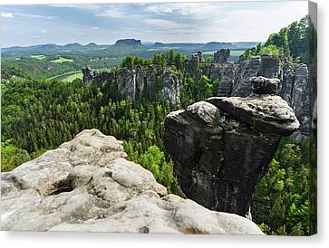 Elbe Sandstone Mountains Canvas Print by Martin Zwick