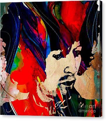 Eric Clapton Canvas Print - Eric Clapton Collection by Marvin Blaine