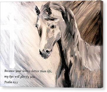 God Is Love Canvas Print by Amanda Dinan