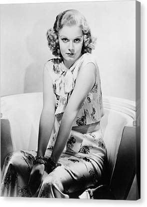 Jean Harlow Canvas Print by Silver Screen