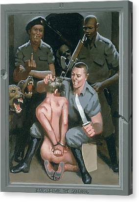 11. Jesus Before The Soldiers / From The Passion Of Christ - A Gay Vision Canvas Print by Douglas Blanchard