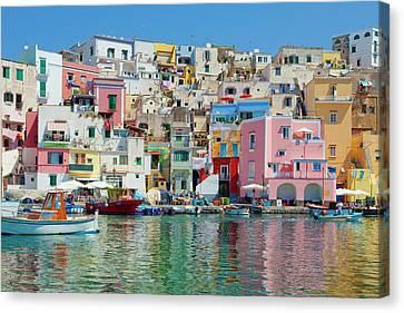 Port Town Canvas Print - Marina Corricella, Procida Island, Bay by Panoramic Images