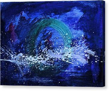 Canvas Print featuring the painting White Splash by Tracey Myers