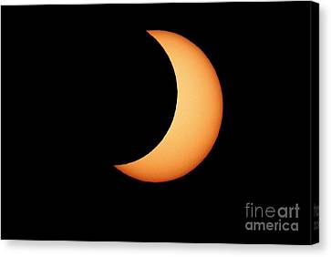 Partial Solar Eclipse, January 2011 Canvas Print by Detlev van Ravenswaay