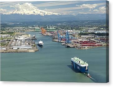 Port Of Tacoma, Tacoma Canvas Print