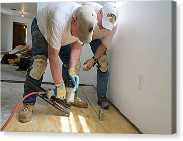 Repairing Hurricane Katrina Damage Canvas Print