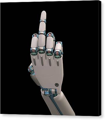 Robotic Hand Canvas Print by Ktsdesign