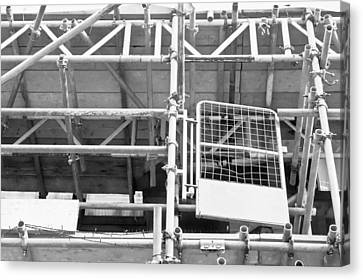 Working Conditions Canvas Print - Scaffolding by Tom Gowanlock