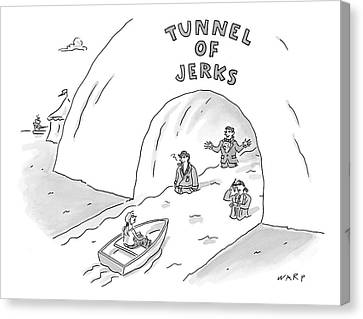 Tunnel Of Jerks Canvas Print
